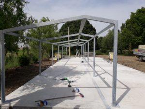 Montaggio della struttura portante in acciaio
